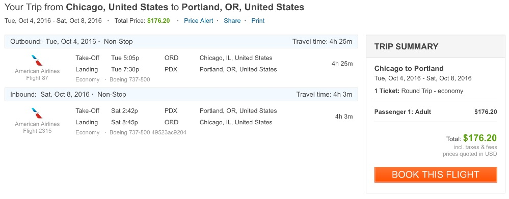 Chicago to Portland