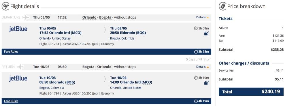 Orlando-to-Bogota