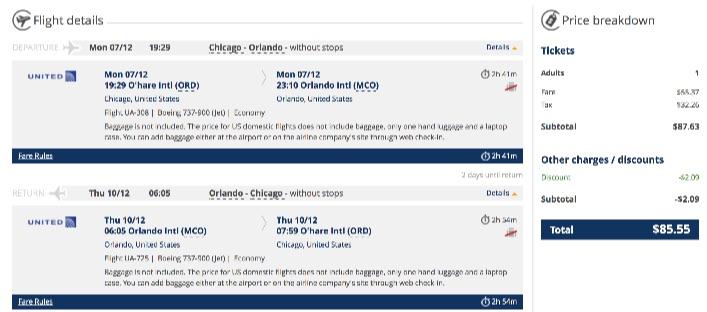 Chicago to Orlando