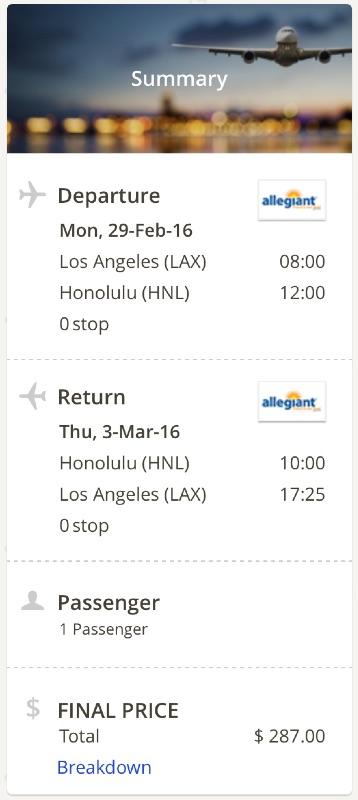 Los Angeles to Honolulu