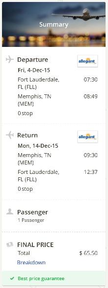 Miami to Memphis