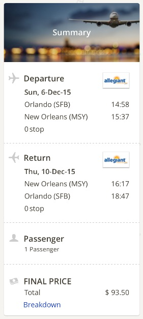 Orlando to New Orleans