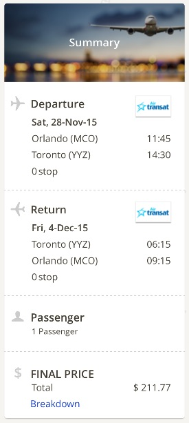 Orlando to Toronto