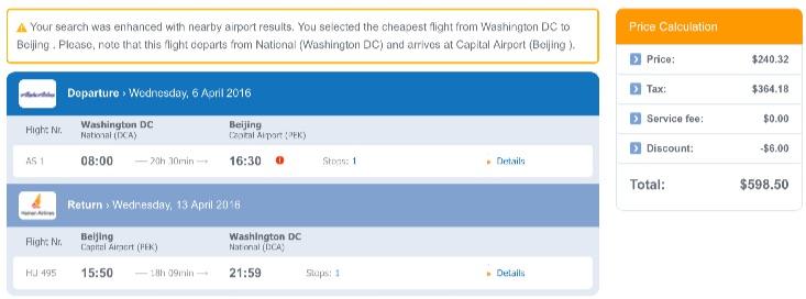 Washington to Beijing