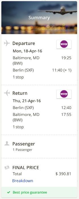 Washington to Berlin