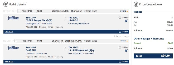 washington-to-charleston