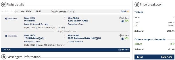 Dubai to Jakarta