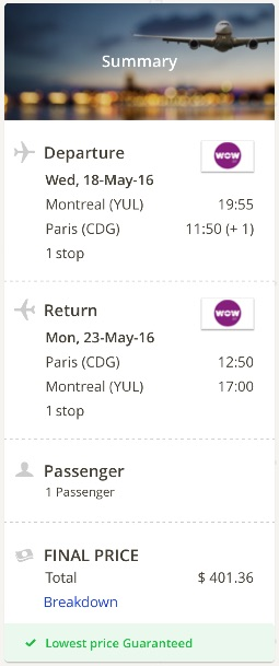 Montreal-to-Paris-France