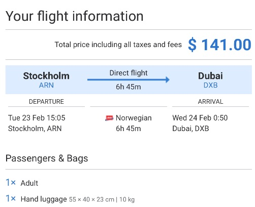 Stockholm-to-Dubai