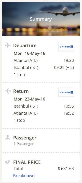 Atlanta to Istanbul