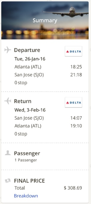 Atlanta to San Jose