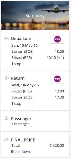 Boston to Bristol