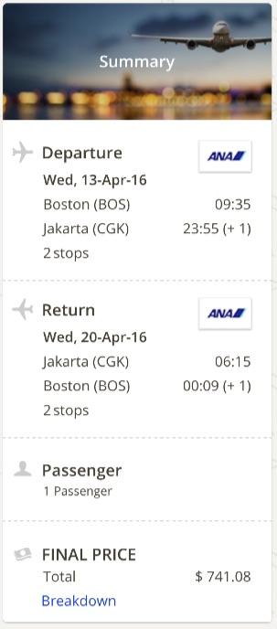 Boston to Jakarta