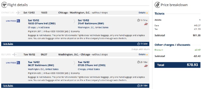 chiacago-to-washington