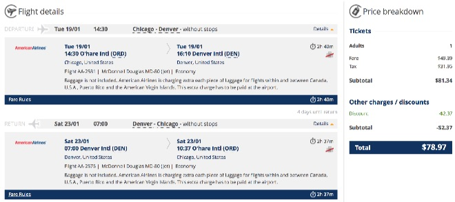 Chicago to Denver