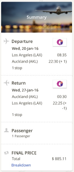 Los Angeles to Auckland