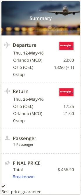 Orlando to Oslo