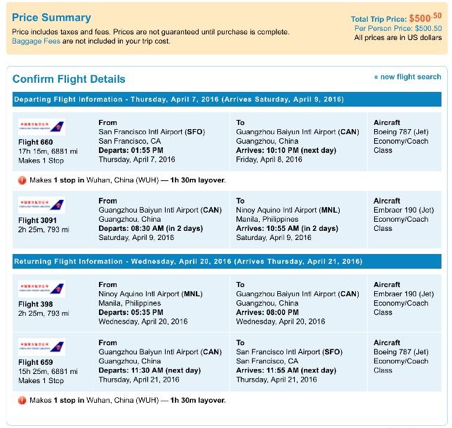San Francisco to Manila