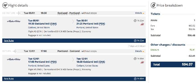 San Francisco to Portland