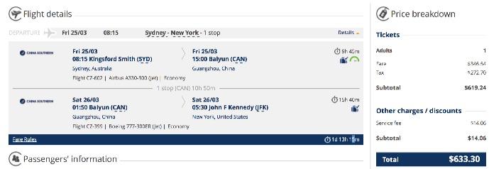 sydney-to-new-york