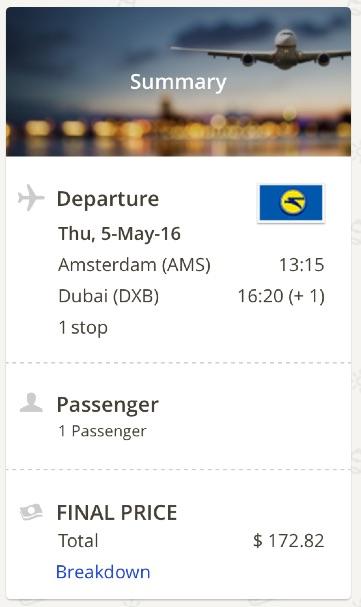 Amsterdam to Dubai