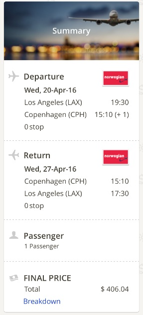 Los Angeles to Copenhagen