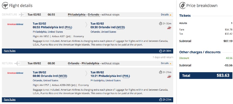 Philadelphia to Orlando