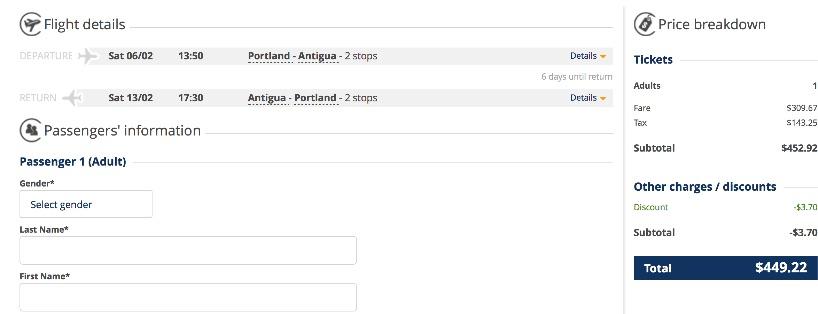 Portland to Antigua