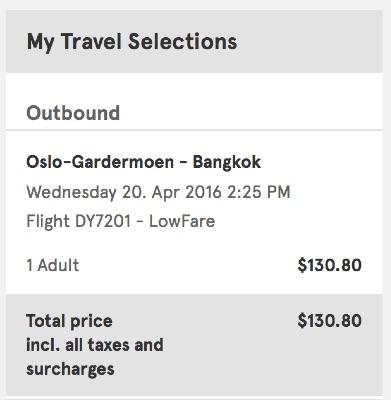 Oslo, to Bangkok, Thailand