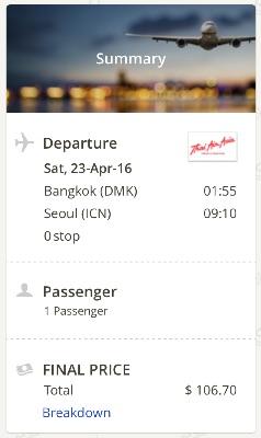 Bangkok to Seoul