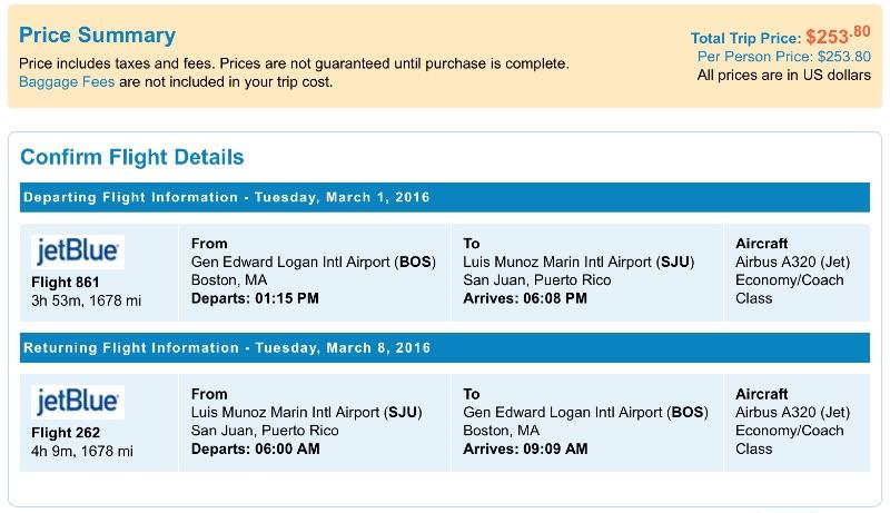 cheap flights from Boston to San Juan