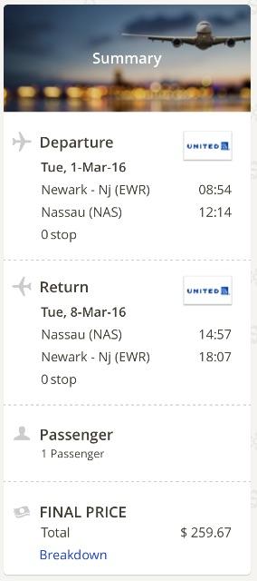 New York to Nassau