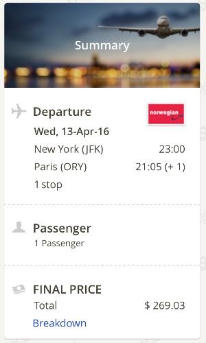 New York to Paris