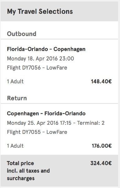 cheap flights from Orlando to Copenhagen