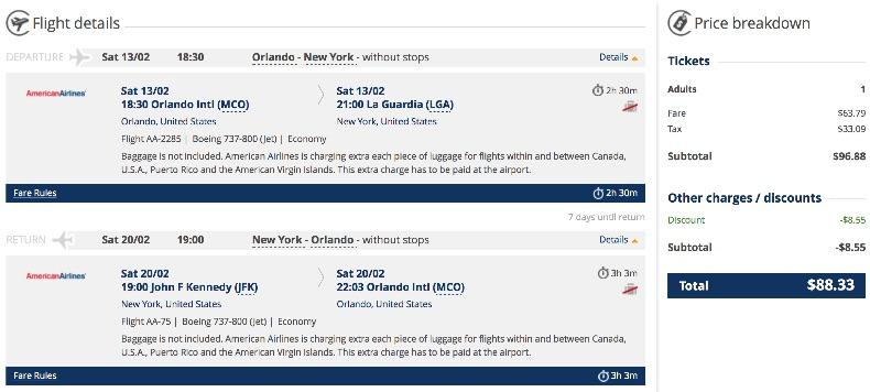 Orlando to New York