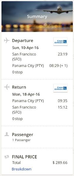 San Francisco to Panama