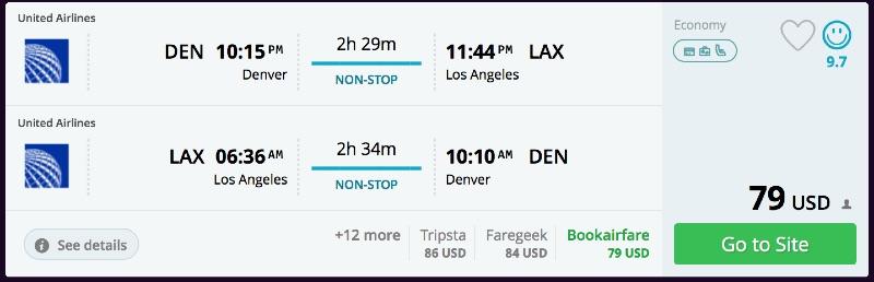 Denver to Los Angeles