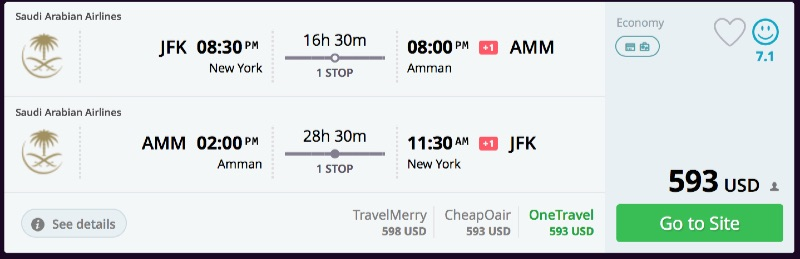 New_York_to_Amman_flights