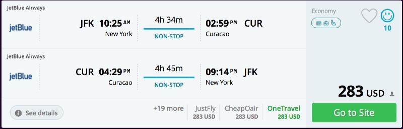 New_York_to_Curacao_flights
