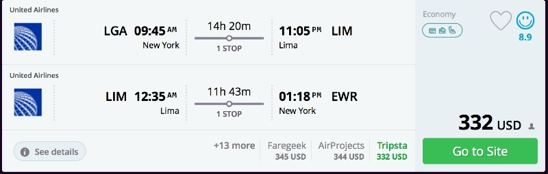 New_York_to_Lima_flights