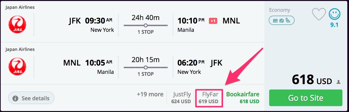 New York to Manila