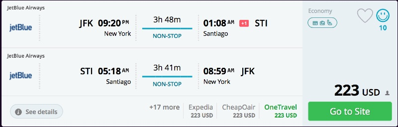 New_York_to_Santiago_flights