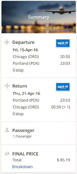 Chicago to Portland