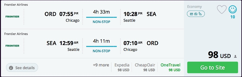 Chicago to Seattle