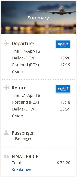 Dallas to Portland