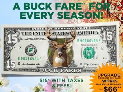 Frontier buck fares