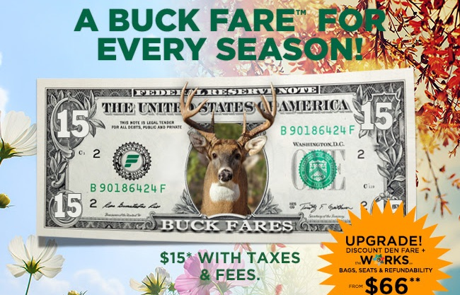 Frontier buck fares promotion + extra 10% off with promo code