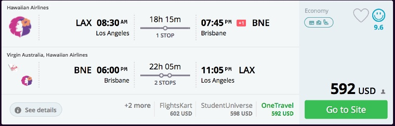 Los Angeles to Brisbane