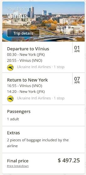 new-york-to-vilnius