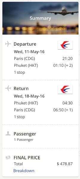 Paris to Phuket